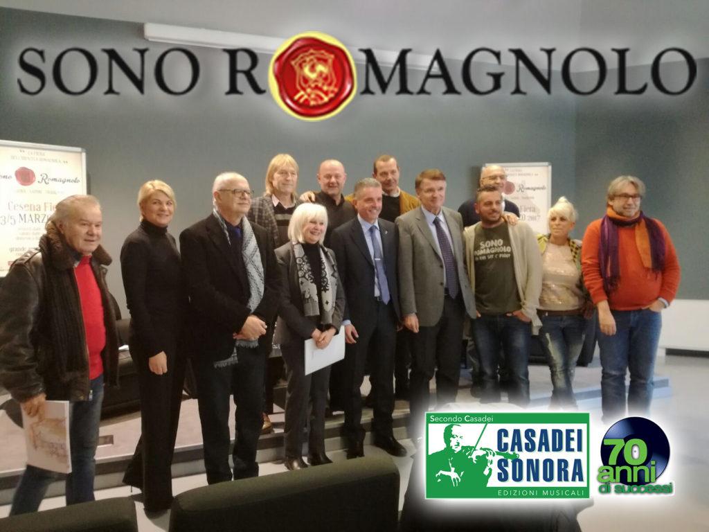 La conferenza stampa per presentare Sono Romagnolo con Riccarda Casadei e Moreno Conficconi